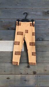 Tinycottons Pima Cotton Leggings Brown Tan Unisex Size 6