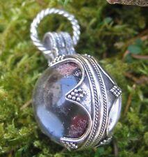 Wikinger Anhänger Bergkristall L Original Reproduktion Fund Gotland 925 Silber
