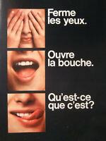PUBLICITÉ DE PRESSE 1968 C'EST UN BISCUIT FINGER DE CADBURY SABLÉ CHOCOLAT LAIT