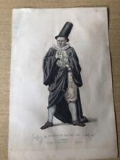 """Le Medicin Malgre Lui By L Wolff 11 1/4""""x7 1/2"""" 1868 Hand Colored Block Print"""