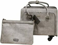 SIMPLY NOELLE NILE ROLLER BAG WITH LAPTOP BAG  STEEL BRAND NEW HB1050B