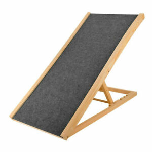 """Pet Dog Cat Ramp 4 Adjustable Heights Bed/Couch 40"""" Folds Flat Support 110lb US"""