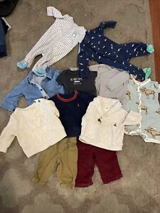 Lots Of Baby Boy Clothes Size 0 To 6 Months 11items Ralph Lauren, Carter's, Gap