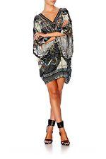 new CAMILLA FRANKS SWAROVSKI GIRL ON THE WING BATWING KAFTAN DRESS one size