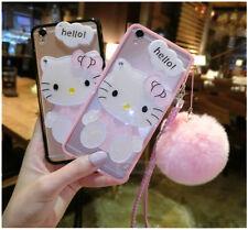Para Samsung 9 S8+ adorable Hello Kitty Note Espejo Funda & Peluche Bola Y Correa