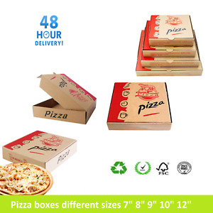 """Pizza Boxes, Takeaway Pizza Cake Strong Quality Postal Boxes Brown 7"""" - 16"""" inch"""
