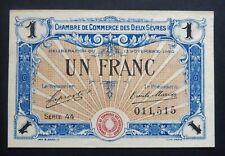 Chambre de Commerce des Deux-Sèvres - 1 Franc - Délibération du 13/11/1920