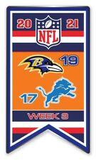 2021 Semaine 3 Bannière Broche NFL Baltimore Ravens Vs Detroit Lions Foot Super