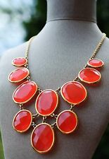 Pebbles Necklace & Bow Earrings Set Kate Spade Coral Neon Translucent Paradise