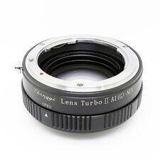 New Lens Turbo II adapter for Nikon G lens to Sony E mount NEX VG20 α6000 a6500