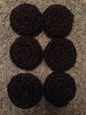 6 Black ---- NYLON NET POT SCRUBBIES