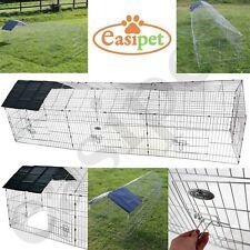 More details for xxl metal run rabbit guinea pig chicken duck ferret pet enclosure roof hutch