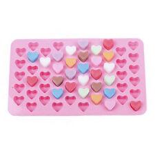 Silikon 55 Herz Kuchen Schokolade Cookies Backform Eiswürfel Seifenform Tablett