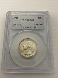 1940 Washington Quarter PCGS MS66 *