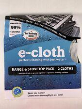 New E-Cloth Polyamide/Polyester Kitchen Bathroom Range Stovetop Pack 2 Cloths