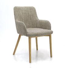 Shankar Trondheim Tweed Stripe Fabric Pair of Dining Chairs in Tweed