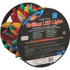 Multi Colored 100 Bulb C9 LED 67 Foot Christmas Tree Home Light Set 2359