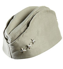 US Army soldato side cap WW 11 Kaki Militare Cappello 3 Star Costume WW2