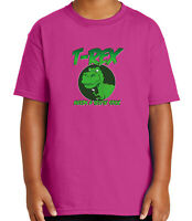 T-rex Dinosaur Kid's T-shirt Funny Green trex selfie stick Tee for Youth - 1844C