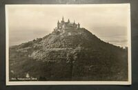 1936 Castle Burg Hohenzollern Bisingen Germany to USA RPPC Cover