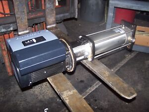 GRUNDFOS 3 HP STAINLESS MULTISTAGE CENTRIFUGAL PUMP VFD CRNE3-19 MLE90FA