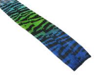 "CLIP-IN 12"" HAIR EXTENSION TRANSITIONAL ZEBRA TIGER ROYAL BLUE NEON GREEN AQUA"