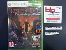 RESIDENT EVIL OPERATION RACCOON CITY XBOX 360 PAL NUOVO SIGILLATO