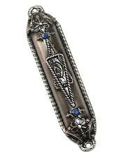 STAR OF DAVID Pewter Mezuzah Mezuza Case 7cm Judaica Jewish Gift Made in Israel