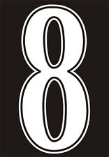 Football shirt number for just £1 (per digit)) IRON ON or heatpress Vinyl WHITE
