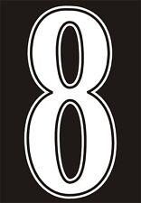 2 BLANCO FÚTBOL Números Para SHORTS Just para 2 Hierro / Plancha calor