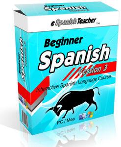 eSpanishTeacher Learn to Speak Beginner Spanish DVD Language Software Course