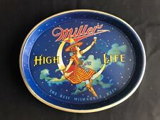 Miller High Life Lady on Moon Tray - Milwaukee, Wi