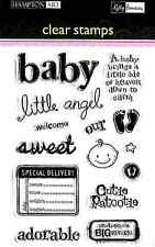 HAMPTON ART Kelly Panacci Clear Stamps SPECIAL DELIVERY Baby SC0385