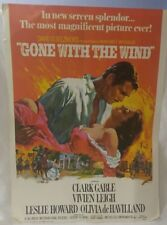 """Vintage 1967 Gone With The Wind Movie Poster Litho. 20""""× 28"""""""