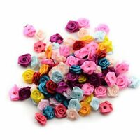 15mm Craft Appliques 480 Pcs/lot Satin Rose Ribbon Wedding Flower DIY