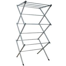 3 TIER CLOTHES HORSE AIRER LAUNDRY RACK INDOOR OUTDOOR WASHING DRYING FOLDING UK