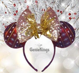 Disney Minnie Mouse Ears Christmas Bauble - Holiday Christmas Birthday Gift