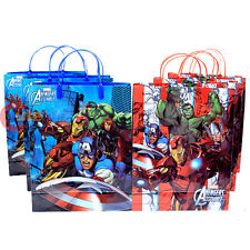 Marvel Avengers Age of Ultron 6pc Party Gift Bag Set Plastic Reusable Bag