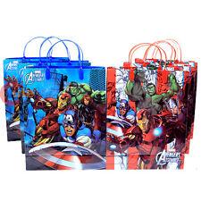 Marvel Avengers Age of Ultron 6pc Party Gift Bag Set Plastic Reusable Bag
