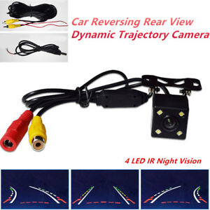 Night Vision 4 LED IR Car Trucks Reversing Rear View Dynamic Trajectory Camera