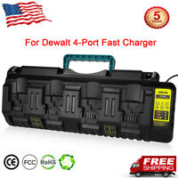 Energup DCB104 Replace Charger for Dewalt 12V/20V Max 4-Port Li-Ion Fast Charger