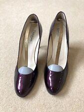 Ladies LK Bennett Patent Plum Court Shoe Size 41