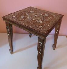 !!! RARE  INDIAN ROSEWOOD CARVED ROUND DINING TABLE ELEPHANT CARVED !!!