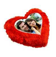 Handmade Red heart shaped Personalized Magic Cushion Pillow Case & Insert gift