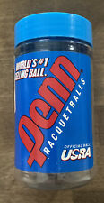 2 Penn Blue Racquetballs w/ container. V