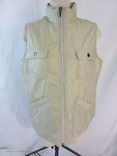 Tommy Bahama 18 Golf Nylon Zip Front Vest w/Pockets - Beige - Women's S