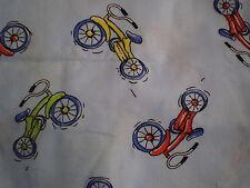 Funky Retro PUSH BIKE THEMED Fabric Remnant (55cm x 50cm)