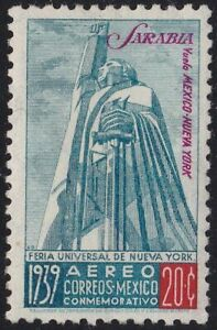 1939 Mexico Mexico, yt Pa 89 20 C.Blue And Carminio Sarabia MNH