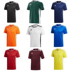 Adidas Entrada Boys Football T Shirt Kids Junior Training Jersey Sports Tee Top