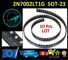 10 PCS LOT - 2N7002LT1G SOT23 2N7002 N-channel Trench MOSFET - NEW FAST SHIPPING